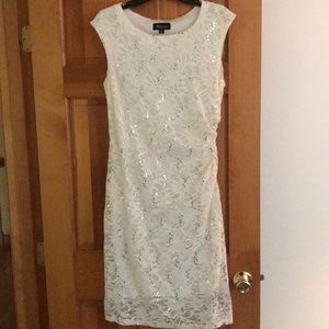 Glitzy Ronni Nicole Studio white dress